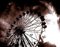 Ferris wheels are not dramatic (kevin dooley) Tags: camera autumn arizona fall film phoenix wheel analog 35mm lens book fairground
