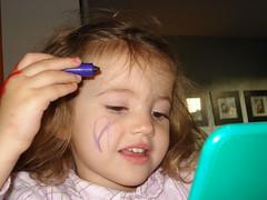 Noor tekent (knoorvanwijngaarden) Tags: noor gezicht tekenen