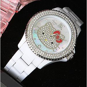 2009 Hello Kitty Collector Edition Swarovski Crystal Encrusted White Watch