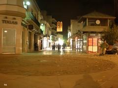 El carrer Barcelona de nit
