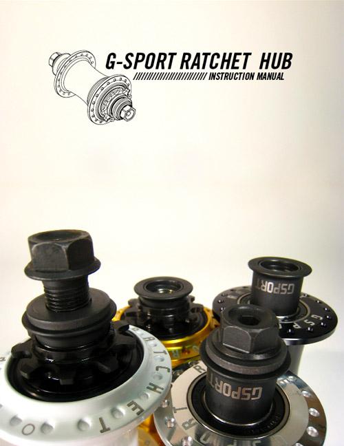 The G-Sport Ratchet hub instruction manual