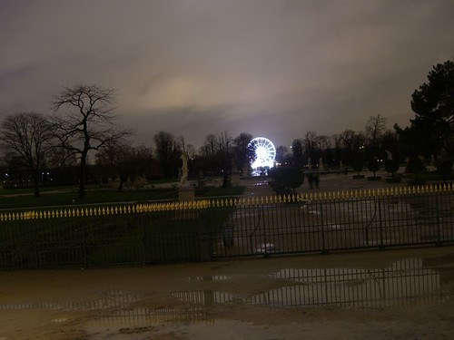 Tuileries Garden at night