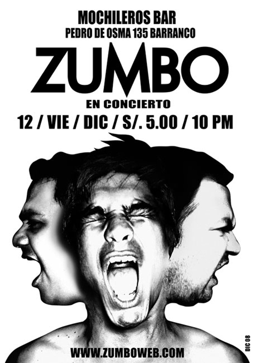 Zumbo en concierto Mochileros Barranco