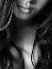 Listen to my heart (AraiGodai) Tags: portrait people blackandwhite girl beautiful lady asian interesting heart lips explore thai listentomyheart araigodai doyouseeaheart
