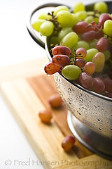 Red & Green Grapes (fhansenphoto) Tags: red green fruit grapes collander