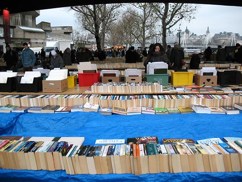 Books under Waterloo Bridge