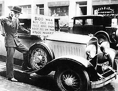 Classic photo of a distress sale -- Great Depression $100 will buy this car