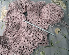 Crochet wip (Sue McLoughlin) Tags: crochet wip merino shellstitch babydk