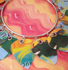 Fun in the Sun (2) (Jupita) Tags: jewelry bracelet accessories recycle eco repurposed earthfriendly upcycle starbuckscard trashion jupita
