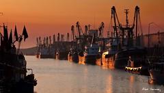 IJmuiden sunset 2 (Alex Verweij) Tags: sunset orange haven water canon boats harbor zonsondergang flag flags explore fisher ijmuiden vissersboten 40d mywinners anawesomeshot aplusphoto alexverweij