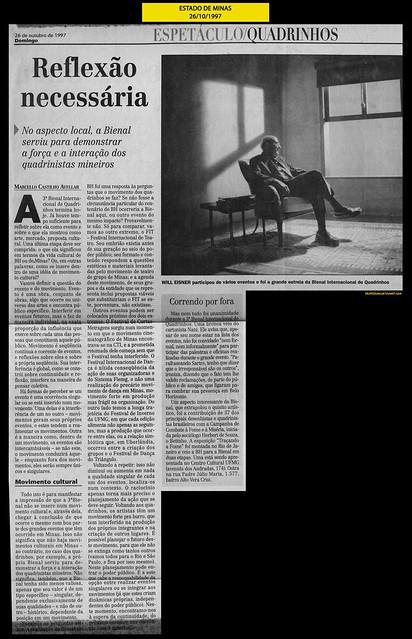 """""""Reflexão necessária"""" - Estado de Minas - 26/10/1997"""