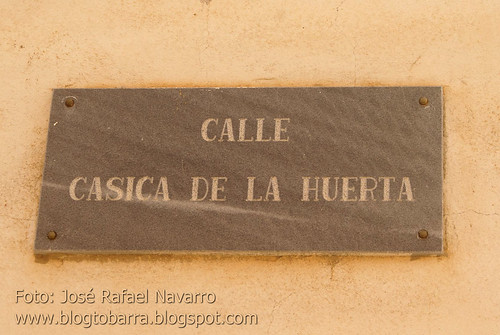 Placas - Calle Casica de la Huerta