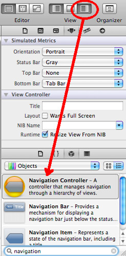 3. Expand Utility View and Add Navigation Controller