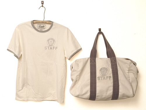 Rugby / Aviator Canvas Duffle Bag & Prescott Staff Ringer Tee