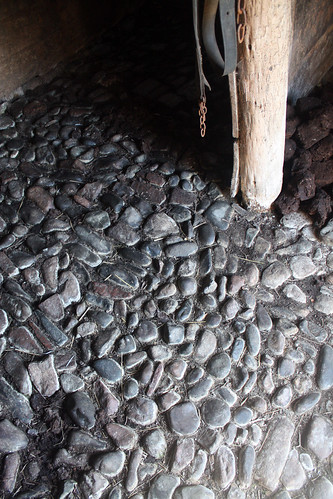 Cobbles in the horse stall