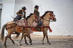 Bandolero (Cani Mancebo) Tags: españa horse man men photoshop caballo andalucía spain ronda montaje hombre málaga galope canimancebo