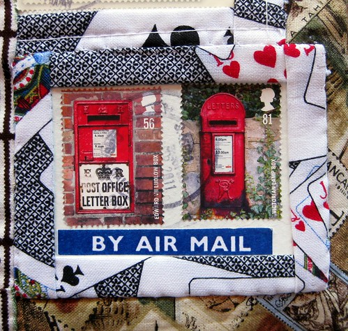 By air mail with postbox stamps