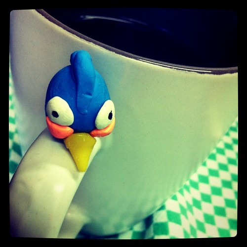 Olha quem está tomando bancha na @cozinhaconversa: um (novo) Angry Bird - feito por #aos11