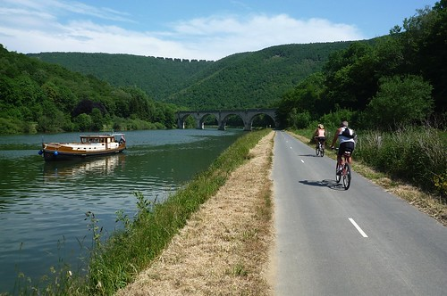 Following the river Meuse. Photo: Gerry Patterson