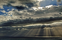 Clouds & Sun Rays (Rhodes - Greece) (Olympus OMD EM5 & mZuiko 9-18mm Zoom) (markdbaynham) Tags: light sun clouds greek four hellas evil olympus greece grecia third rays mirco rodos rhodes omd csc dodecanese m43 mft em5 mirrorless u43 918mm mzuiko m43rd