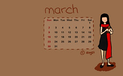 Desktop calendar 03/2008 - Cookie Girl