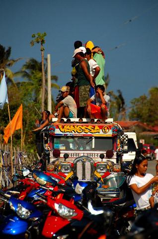 Motocross spectators
