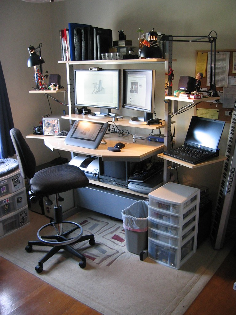 Standing Jerker Desk Spacecat San Francisco Tags Ikea Home Computer Workstation