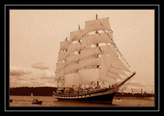 Back in Time (Free 2 Be) Tags: heritage classic sepia boat nikon ship d70 sails tallship 15challengeswinner pregamechallenge