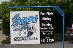 Sorcerer Softball Academy Sign