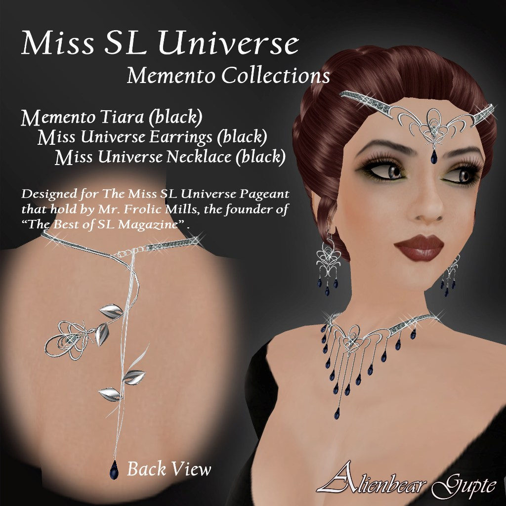 Miss Universe Set Black model