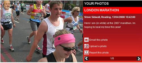 Fake London Marathon Photo