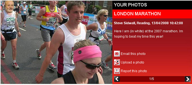 Fake London Marathon Photo