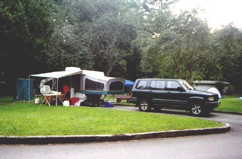 Camp at Linville Falls