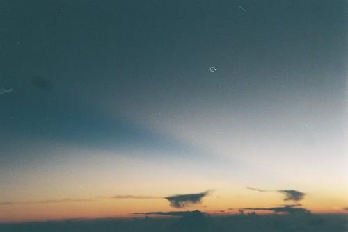 Sunrise on a plane
