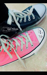Glad 2 B different (Crazy Princess) Tags: pink blue music signs black punk different emo glad converse be crazyprincess