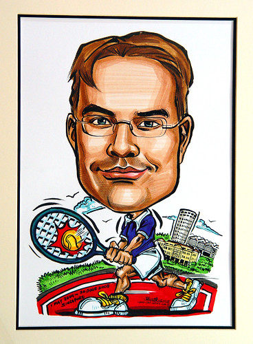 Caricature BASF tennis player edited