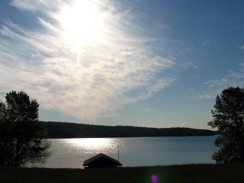 Sun over Lake Walloon