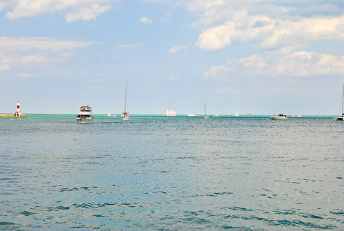 Lake Michigan, shot south of Navy Pier
