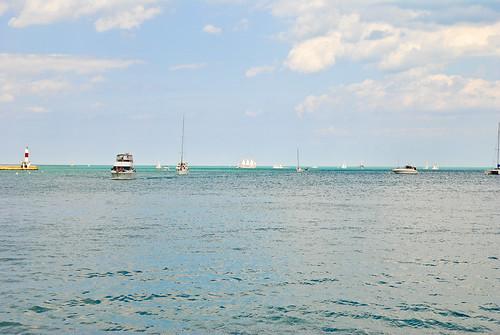 Lake Michigan, shot south of Navy Pier