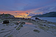 Ya Nui Beach Sunset (tysonroche) Tags: longexposure sunset beach water canon thailand eos phuket dri 1022 30d