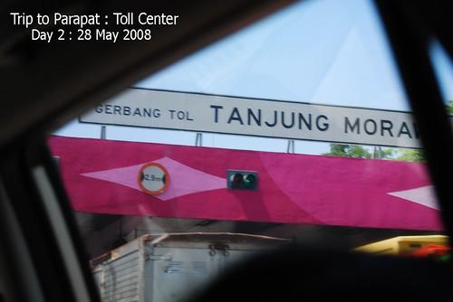 Trip to Parapat : Toll kiosk in Tanjung Morawa