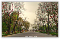 Road to the River ([ Imran ]) Tags: pakistan postprocessed lines illustration perspective islamabad h5 converginglines rawallake dsch5