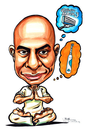 Caricature for Gillette Yoga
