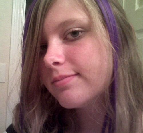 And would purple streaks look good in dark brown hair?