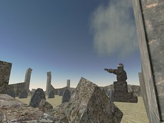 Boot Hill (Aposiopesis) Tags: graveyard cemetary secondlife wastelands postapocalyptic virtualworld giuseppi burntoak