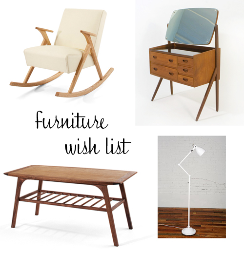 my furniture wish list