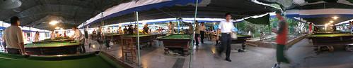Pool arcade in Jiuquan, Gansu Province, China