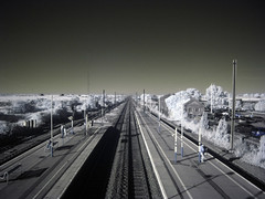 Railway IR (chubbster) Tags: pictures light red station geotagged ir interesting spectrum awesome railway explore filter richard infrared infra ricoh allrightsreserved totally hoya stneots r72 kood huckle 720nm explored allrightsreserved mywinners gx100 chubbster diamondclassphotographer ricpic richardhuckle