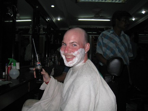 Nothing like a fresh shave and a cool Pepsi