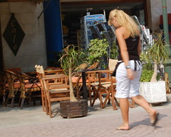 Coffee Shop Waitress (RobW_) Tags: july coffeeshop tuesday waitress 2008 zakynthos jul2008 01jul2008